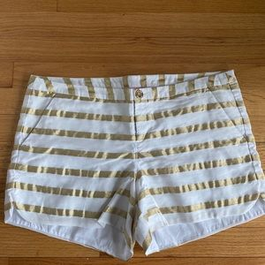 Lilly Pulitzer Gold Stripe Shorts